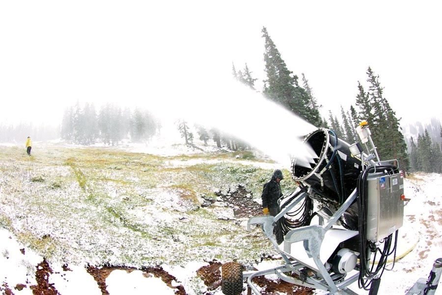 Loveland starts the guns a' blasting on Monday, September 21, 2009. (Loveland Ski Area)