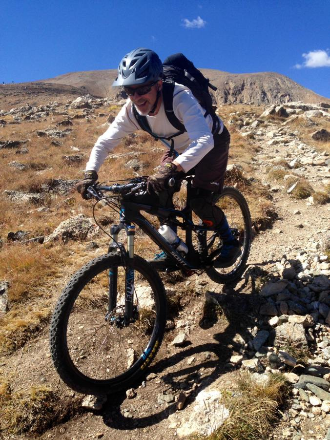 Mountain biking Mt. Elbert